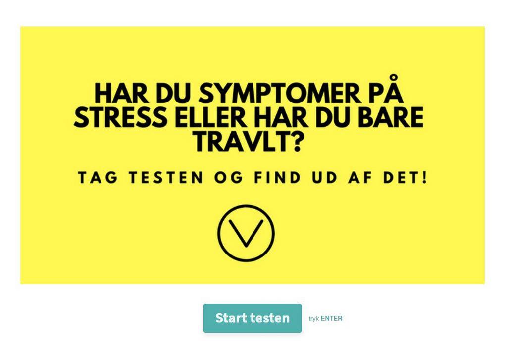 stress symptomer test