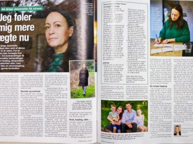 Familie Journalen bringer historien om Rikke´s  tidligere klient Jeannette
